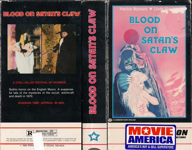 BLOOD ON SATAN'S CLAW (VHS Box Art)