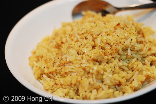Garlic Rice with little added mixed herbs