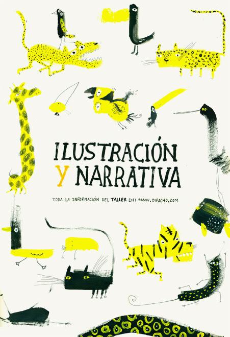 Afiche para taller de ilustración y narrativa, 2012