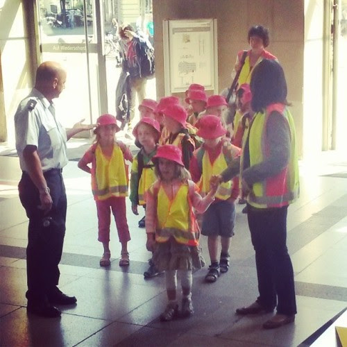 Something beginning with K -  Kids  at the train Station. Excited  #fmsphotoaday