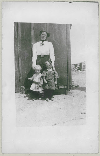 Woman and two children