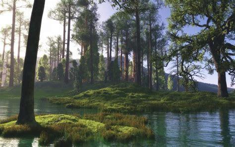 hd peaceful river scene wallpaper
