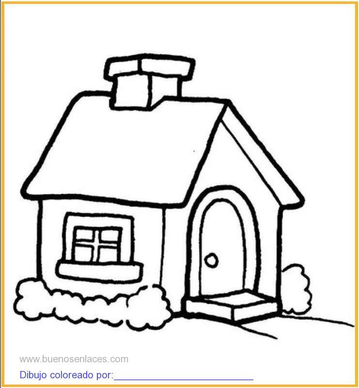 Dibujo De Casa Con Jardín Para Colorear E Imprimir