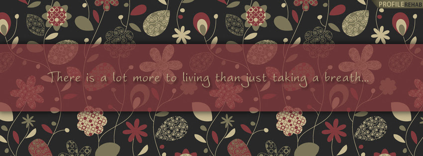 Saying About Life Facebook Cover