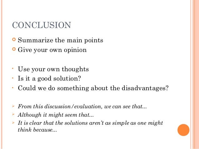 Ending the Essay: Conclusions |