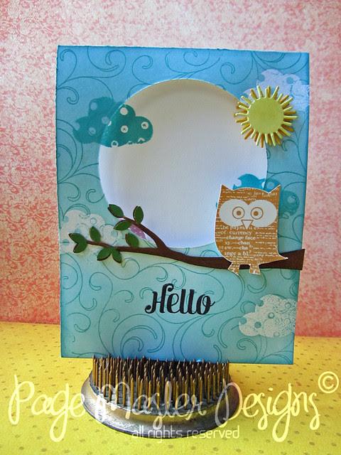 Hello card outside