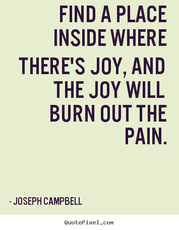 Joseph Campbell Picture Quotes Find A Place Inside Where Theres