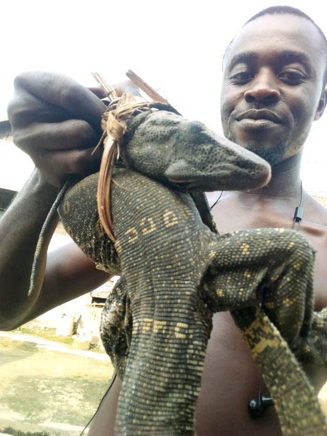 See The Meal A Bayelsa Man Prepared After Catching An Alligator (Photos)