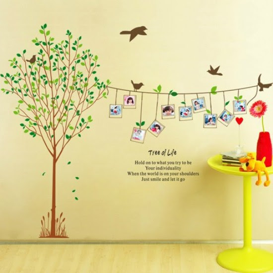 Tree Of Life Photo Frame Tree And Birds Wall Sticker Wall