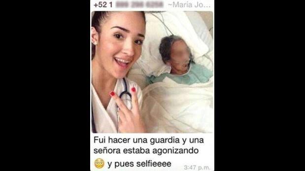 """""""Selfie"""" de estudiante de medicina con paciente genera polémica"""