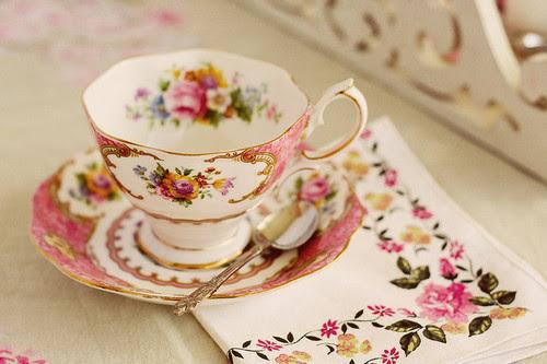 cup, cute, pink, retro, tea