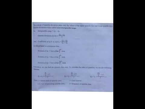 Quartile deviation class ten, optional mathematics