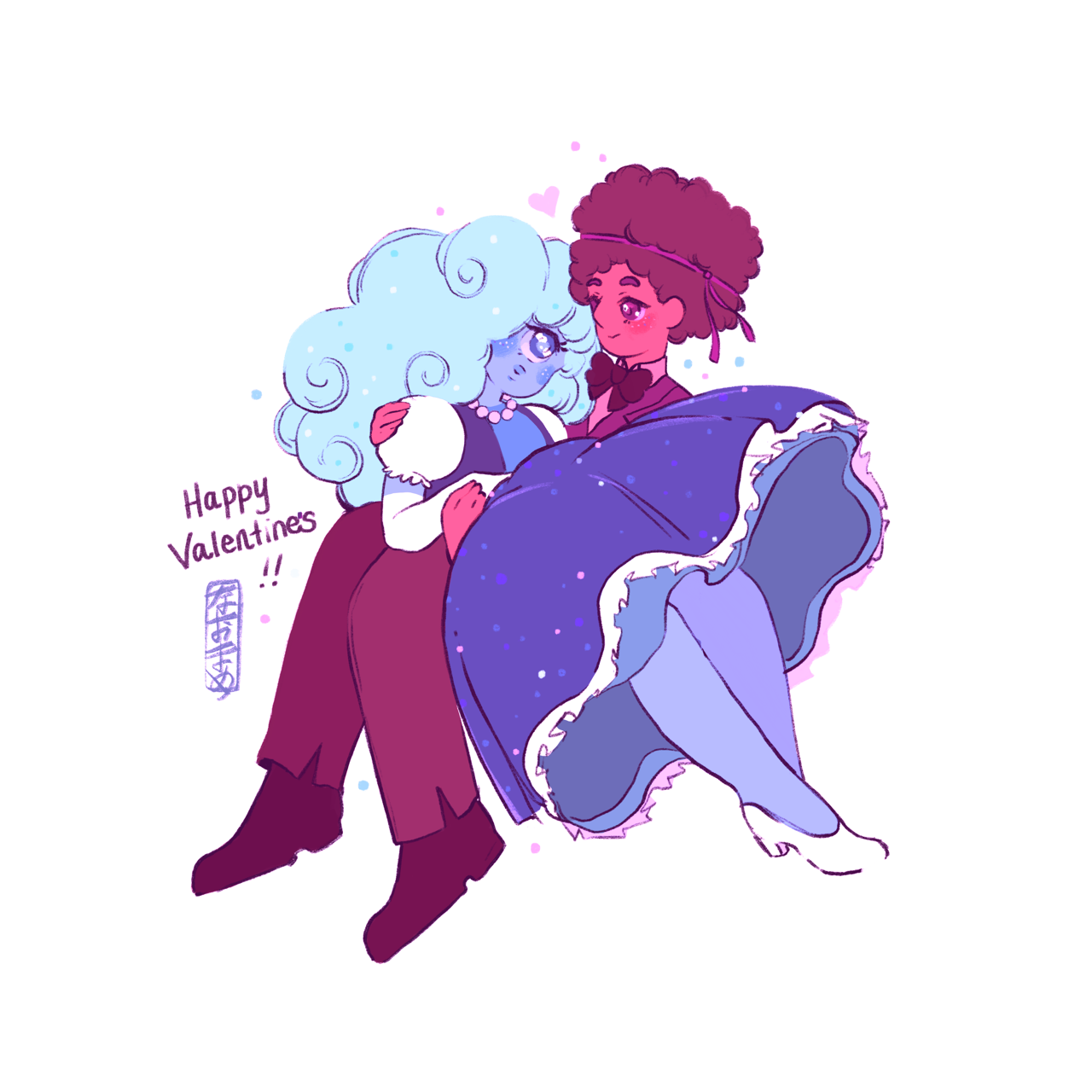 Quick drawing of my two of my favourite characters from my favourite show Steven Universe! Happy Valentine's Day