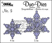 Crealies Duo Dies Sneeuwvlok no. 3 / Crealies Duo Dies Snowflakes no. 3