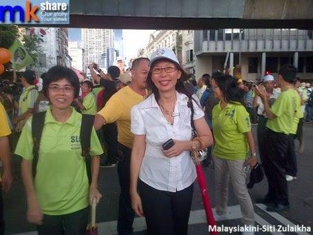 Lee Kin Hiong di perarakan Himpunan Hijau baru-baru ini