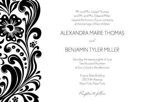 Block Print Wedding Invitation