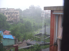 Raining hard!