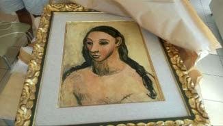 Fa dos anys, el quadre el va confiscar el servei de duanes francès a Còrsega a bord d'un vaixell
