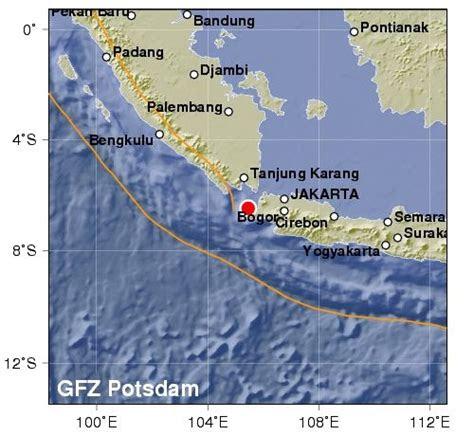 getaran gempa ujung kulon terasa hingga objek wisata