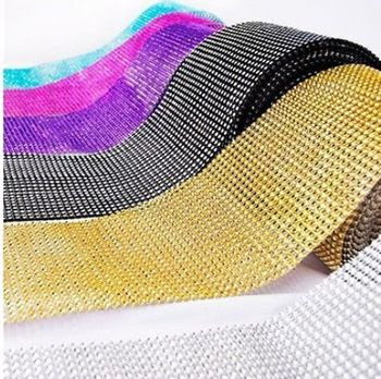 Free Shipping 24 Row Crystal Rhinestone Banding Trimming Ribbon For Cake,Decor Wedding Party Home