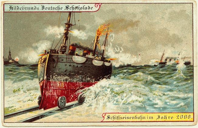 carte postale 2000 futur 07 En 1900, des cartes postales imaginent lan 2000  histoire featured design