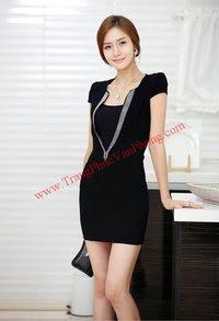 Mã SP: AGD35 - Bộ áo đồng phục gia đình váy nữ + váy dài con gái màu đen Màu sắc : Đen ( Hình ảnh ) Chấ,