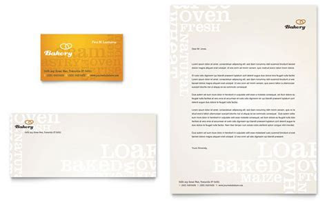 Artisan Bakery Business Card & Letterhead Template Design