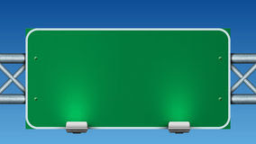 Blank Green Road Sign Stock Photo - Image: 22159610