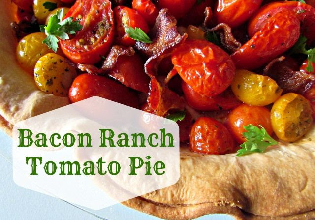 Bacon Ranch Tomato Pie