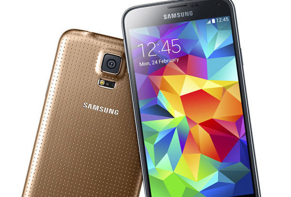 Samsung Galaxy S5 Gold 01