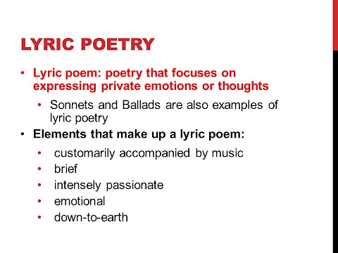 How To Write A Lyric Poem Step By Step