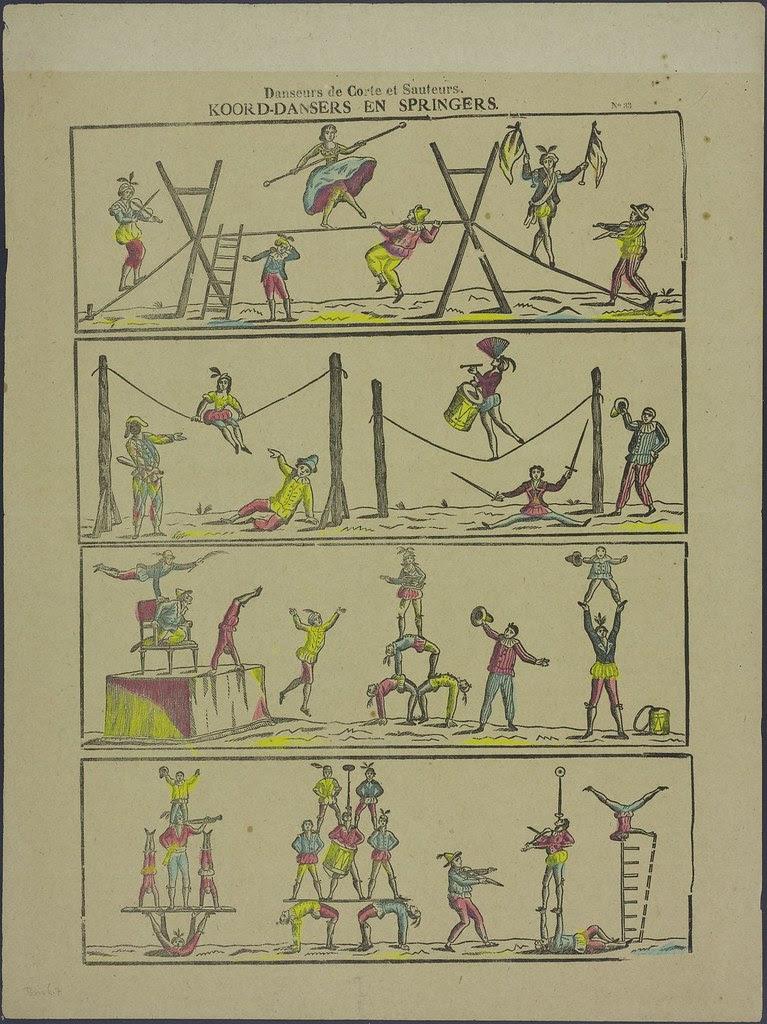 Danseurs de corte et sauteurs - Koord-dansers en springers  by FA Beersmans 1866-1897