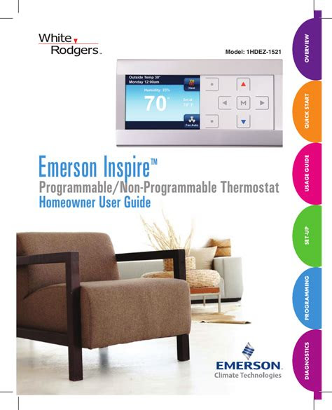 White Rodgers 1hdez-1521 Thermostat User Manual.pdf