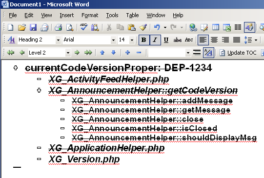 Microsoft Word's Outline View