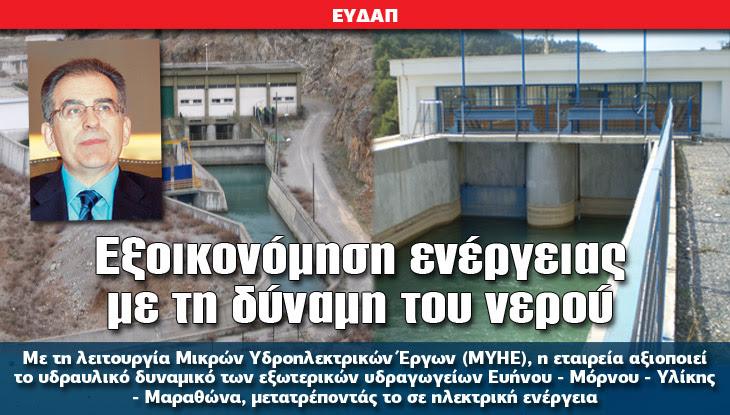 Εξοικονόμηση ενέργειας με τη δύναμη του νερού