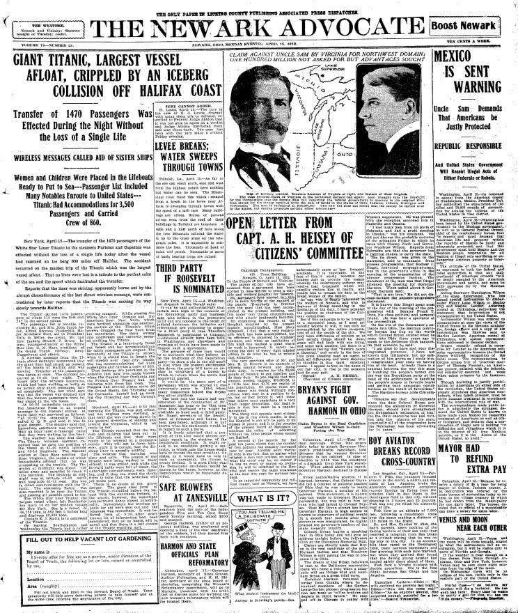 titanic journaux presse newspaper couverture fail 04 Le 15 Avril 1912 la presse annonce la catastrophe du Titanic  histoire featured