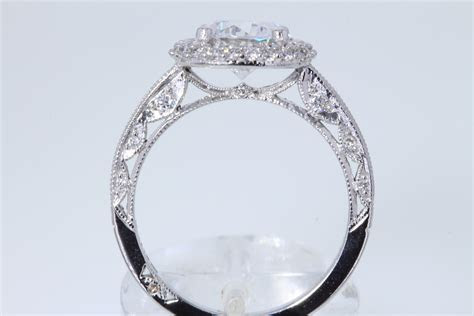 Tacori Double Row Cushion Halo Diamond Engagement Ring