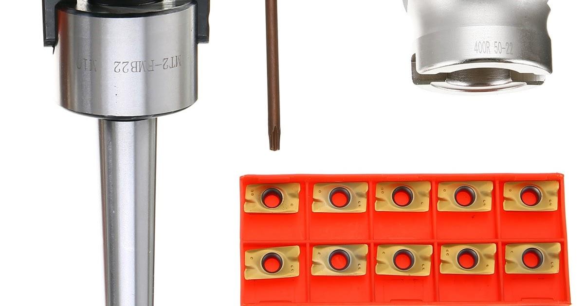 MT2 M10 Bohrstange Fräskopf Fräser 400R 50mm 10x APMT1604 Wendeplatten CNC Kit