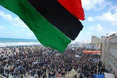 Στιγμιότυπο από τις διαδηλώσεις στη Βεγγάζη.