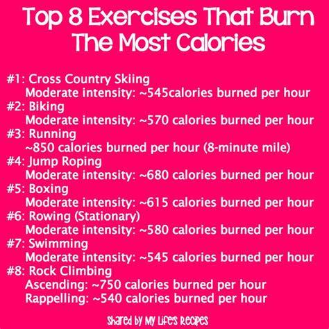 top  exercises  burn   calories  moderate
