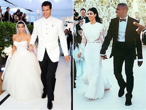 Kim?s Wedding Dress to Kanye Vs Her Kris Humphries Gown