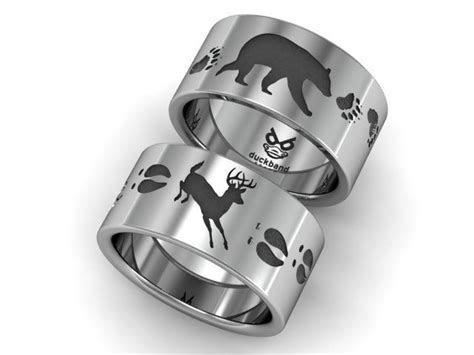 Bear and Deer track ring. www.duckbandbrand.com   Duck