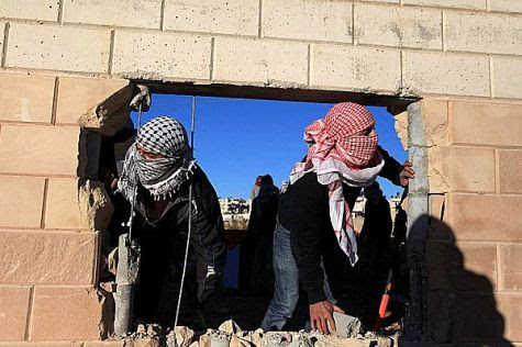 Arabs create opening for terrorists to walk the security wall between Ramallah and Jerusalem and Ramallah.
