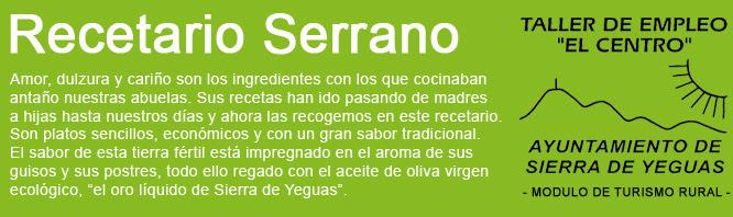 Recetario Serrano