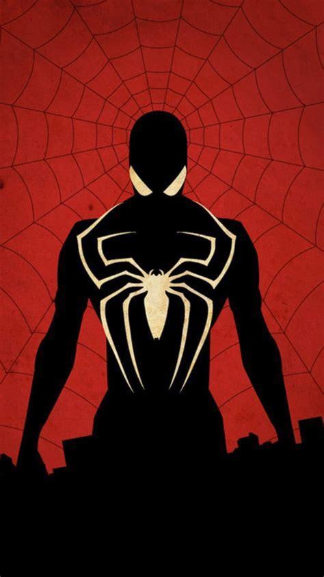 Spiderman In Black HD Mobile Wallpaper   Vactual Papers