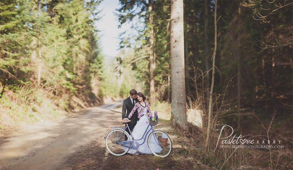 plener ślubny rower