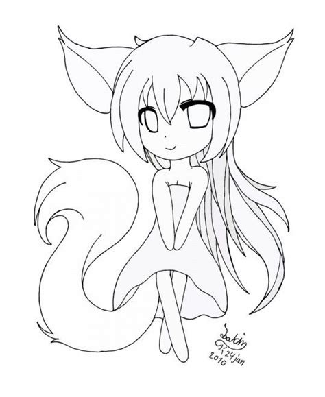 anime printable coloring pages   easy chibi