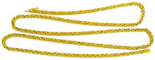 Foto 2, Königskette massiv Gelbgold 18K/750 89Gramm Luxus! Neu!, K2860