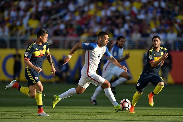 Estados Unidos joga mal e perde para a Colômbia