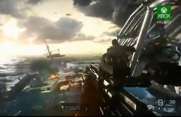 """Imagens do game """"Battlefield 4"""", apresentado nesta segunda-feira (10) pela Microsoft, durante a feira de games E3. (Foto: Reprodução)"""
